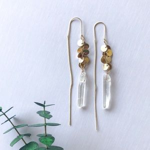 Anthropologie crystal stone earrings